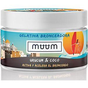 muum - Graisse à traire bronzage intense Urucum et noix de coco. Accélérateur de bronzage avec antioxydants naturels, hydrate et prévient les imperfections et les rides - Bronzage doré - 200 ml. (Bixa Labs, neuf)