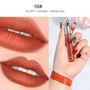 Matt Matte Lipstick,ROMANTIC BEAR Nude Liquid Lipstick Vivid Color Long-Lasting Waterproof Kissproof Lip Gloss 1pc for Women (Youget1, neuf)