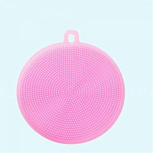 Silicone dos épurateur doux Loofah serviette de bain brosse ceinture corps exfoliant Massage pour douche corps nettoyage salle de bain douche sangle Pink (shijiahui, neuf)