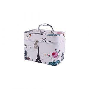 Befitery Trousse de toilette, sac à cosmétiques de voyage Trousse de Maquillage Portable Sac de Toilette Imprimé (Tuba Tour Eiffel) (qingqingdacaoyuan, neuf)