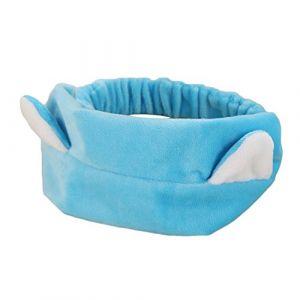 CAOLATOR Super doux Bande de cheveux en peluche pour Jogging Yoga Maquillage Lavage de Visage Douche Fête d'anniversaire Headband (Bleu) (LILI DA, neuf)