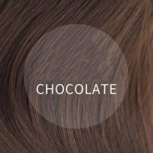 Perruque, longue perruque de cheveux pour la réparation de cheveux raides femelles (Couleur : Chocolat Couleur) (CanMaoWu, neuf)