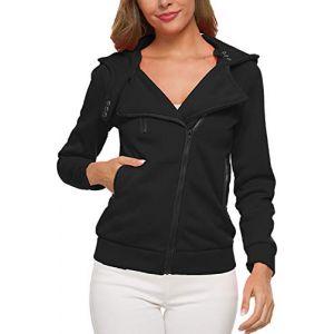 - Des Sweat - Shirts Veste Polaire Un Sweat À Capuche Black XS (Suvotimo Fashion, neuf)