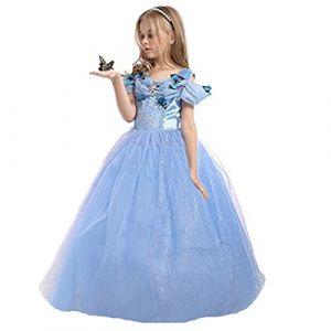 ELSA & ANNA® Filles Reine des Neiges Princesse Partie Costumée Déguisements Robe de Soirée FR-FBA-CNDR5 (6-7 Ans, FR-CNDR5) (UK1STCHOICE-ZONE, neuf)
