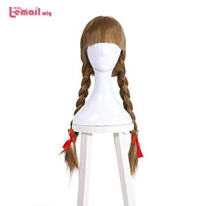 JPDP L-email perruque Halloween Poupée Annabelle Cosplay Perruques 65 cm Brun Droite Synthétique Cheveux Perucas Cosplay Perruque 65 cm Brun (VNDJQUEEW587, neuf)
