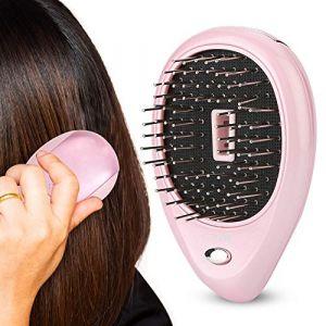Duevin Electric Laser Massage Peigne mini brosse à cheveux peigne Massager Brush Perfect Hair Brush Traitements Massage vibrant Brush(Rose) (Duevin89, neuf)