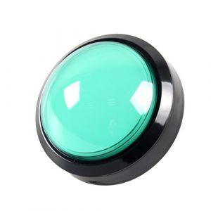 EG STARTS 4 Pouces 100mm Big dôme 12V LED Lumineux des Boutons poussoirs avec Micro pour Arcade Machine Jeux vidéo Pièces (Vert) (EG STARTS-EU, neuf)