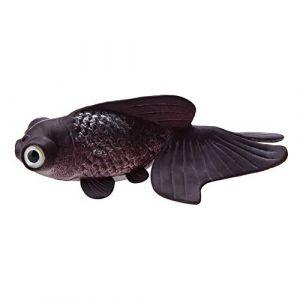 Aquarium Bol De Poisson en Plastique De Natation Poisson Or Betta Poisson Drôle Artificielle en Silicone Petit Poisson Réaliste Faux Poisson Fish Tank Décoration Ornements(Goldfish Brun) (Smandye, neuf)