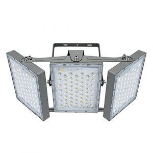 Projecteur LED 300W, IP65 Imperméable, 27000LM, Eclairage Extérieur LED, Equivalent à Ampoule Halogène 1800W, 5000K Lumière Blanche du Jour, Projecteur réglable pour granges, cour et garage (Panda Light, neuf)