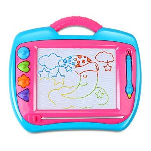 BeebeeRun Ardoise Magique Tableau Magnétique Dessin Peinture Écriture Loisir Créatif Jouet Educatif Cadeaux de Noël pour Bébés Enfants Filles Garcons (BeebeeRun Direct, neuf)