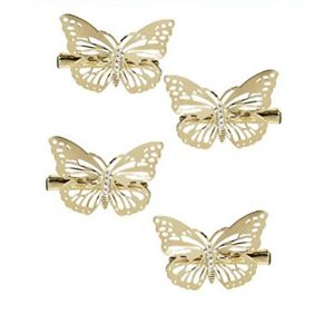 Cuhair Lot de 4pinces à cheveux en forme de papillon Métal doré ( Neuf Marketplace )