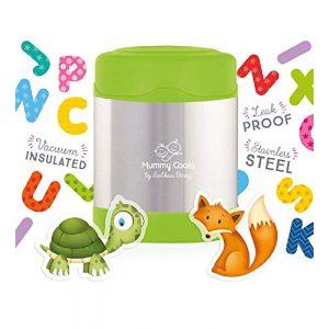 Mummy Cooks - Lunchbox Enfant Isotherme Inox 300ml (Vert) - STICKERS OFFERTS ( Neuf Marketplace )