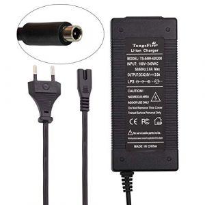 TangsFire Chargeur de Batterie pour vélo 36V, Chargeur 42V 2A pour connecteur RCA pour vélo électrique (RCA 10MM) (TangsFire EU, neuf)