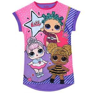 L.O.L. Surprise!!! - Chemise de Nuit - Poupée - Fille - Violet - 6-7 Ans (Character FR, neuf)