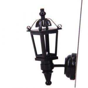 Applique Lampe Murale LED Miniature pour 1/12 Maison de Poupée - Noir (GOMARK, neuf)