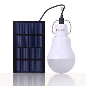 KK. Bol lampe solaire portable ampoule LED Panneau solaire Alimenté par batterie solaire lumières LED Lampe pour maison lumière lumière d'urgence Intérieur Extérieur randonnée Tente de camping Nuit lampe de travail, blanc 15.00 wattsW 3.70 voltsV (KK.BOL