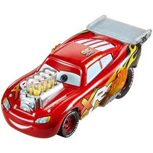 Disney Pixar Cars Petite Voiture Xrs Drag Racing, Lightning Mcqueen, Véhicule avec Pistons Animés et Flammes, Jouet pour Enfant, Gfv34 (docsmagic, neuf)