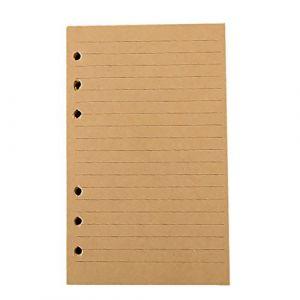 Milopon Feuillet Mobile Perforés Recharges Papier pour Cahier Carnet Journal A6 80pages (Xiurous, neuf)