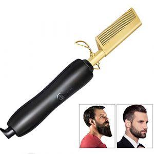 Défrisage Styler Peigne, Brosse Redressage Défrisage Brosse/Cheveux Barbe Pour La Maison Et Voyage (wuxiaoyu12345, neuf)