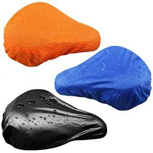 Housse de Selle de Vélo étanche Housse de Pluie protege Selle de velo? Siège élastique de Protection Noir, Bleu (3 Paquets) (Coopache Direct, neuf)