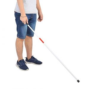 Bâton de Marche, Pliant Pliable Réfléchissant Canne Béquille Guide Anti-Choc Portable Bâton de Marche pour les Aveugles (VIFER, neuf)
