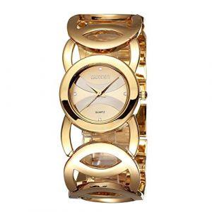 Montre Femme Femmes de cristal de luxe évider montre bracelet Montre élégante à quartz (AiSiWeiDianZi, neuf)