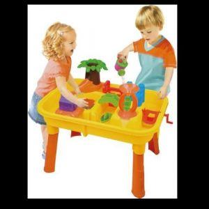 TABLE DE JEU PLAGE SABLE EAU + 20 PIECES ENFANT JOUET JARDIN MAISON CAMPING EVEIL (AUDISCOUNT, neuf)