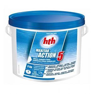 Hth Action 5- Chlore Multifonction stabilisé - 5kg (Galet 200g) (EASYPISCINE, neuf)