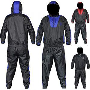 AQF Combinaison Sudation Fitness Sauna Suit Tenue De Sudation pour Gym Et Le Jogging Unisexe Perte De Poids Survetement (Bleu, S) (SPORTS INSIDE, neuf)