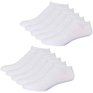 YouShow Chaussettes de Basket Hommes Femmes 10 Paires Chaussettes mi Chaussettes Courtes Coton Unisexe OEKO-TEX Standard 100 (Blanc, 39-42) (YOUSHOW, neuf)