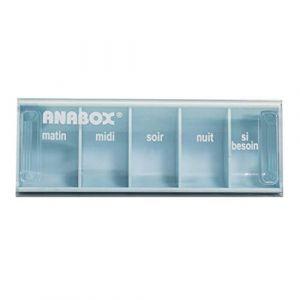 Pilulier Journalier | 5 Cases | Bleu Pastel | Anabox (BIVEA, neuf)