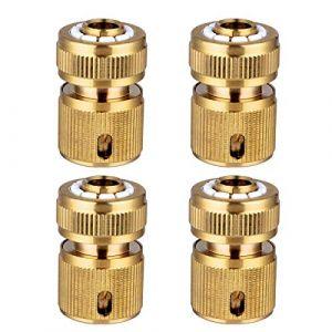 """CT 4 Pièce Raccords Rapide Tuyau d'arrosage en Laiton, Rapide Raccord Connecteurs pour Tuyau d'arrosage dans Le Jardin 1/2"""" Quick Connectors (CT-EU, neuf)"""