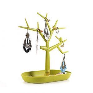 Bijoux présentoir titulaire bijoux organisateur tour collier boucle d'oreille arbre Bracelet présentoir avec porte-pince à cheveux pour collier boucles d'oreilles (couleur: vert, taille: 23 (Xianmin, neuf)