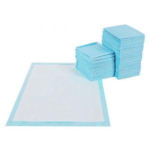 FEANDREA Tapis éducateurs pour Chiot, Lot de 100, Apprentissage de la propreté pour Chien et Chat, 5 Couches, Tapis Absorbant, Couche inférieure imperméable, 60 x 90 cm PTD90B (Songmics, neuf)
