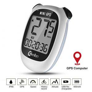M3 GPS Ordinateur de vélo, Ordinateur de vélo sans fil étanche Compteur de vitesse pour vélo Compteur kilométrique rétroéclairage LCD Affichage Suivi de la distance Vitesse Temps 6 Langue Réversible (Cmeilan, neuf)