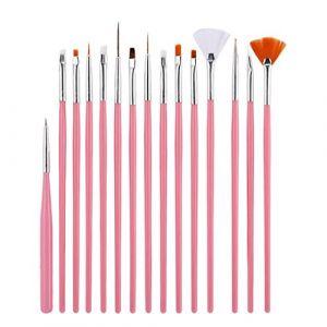 Vernis à ongles Pen, Bescita 15PC Nail Art Design Peinture Dotting Détails Pen Pinceaux Bundle Outil Kit Ensemble (Bescita, neuf)
