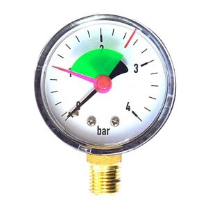 """Industriel 50 mm Pression Hydraulique pour manomètre Calibre 4 bar 1/4"""" (Diamond BFG Ltd, neuf)"""