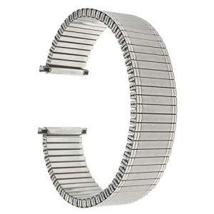 Bandini 22mm Bracelet de Montre Extensible en Acier Inoxydable pour Hommes, Ton Or, extrémité Droite, Bracelet Montre métallique à Expansion, sans Boucle (Shoptictoc., neuf)
