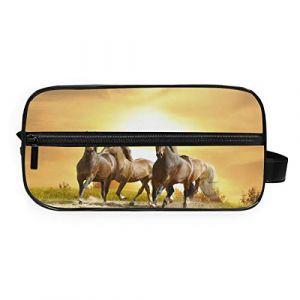 Fantazio Sac de rangement pour salle de bain, sac de maquillage, sac de course à pied, cheval, sac de lavage (FANTAZIO, neuf)