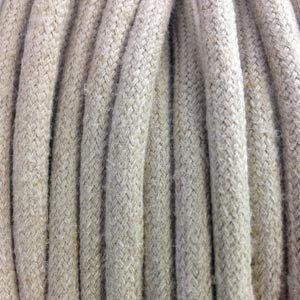 Fil électrique tissu Lin Beige 3 fils (Lumiere-et-deco, neuf)