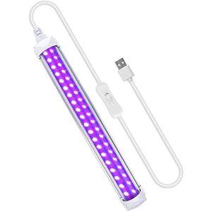 UV LED Tube,10w Lumière Noire,Lumière Ultraviolette Pour Halloween,Affiches Fluorescentes,fête,Peinture UV,Au Détecteur De Taches (guang qi zhe deng shi (zhongshan) you xian gong si, neuf)