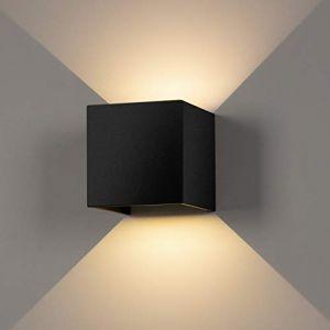 Applique Murale Interieur/Exterieur 12W,Lampe Murale LED Etanche IP65 Réglable Lampe Up Down Design 3000K Blanc Chaud Appliques Murales pour Salon Chambre Chemin (Priv Europe, neuf)