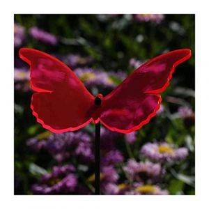 Vitrail motif papillon 14 cm en acrylique transparent avec neon fluorescent pour offrir barre de couleur 60 cm suncatcher - neonrot (bütic de, neuf)