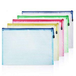 ZWOOS Pochette Plastique A4 Porte Document Polypropylène avec La Fermeture Éclair pour Le Stockage de Document (10 pcs) (ZOEON Direct, neuf)