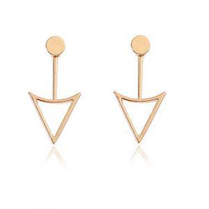Boucles d'oreilles à clips en métal pour femme Motif géométrique creux Yangtze Rivière Delta (huijiadeyichu, neuf)