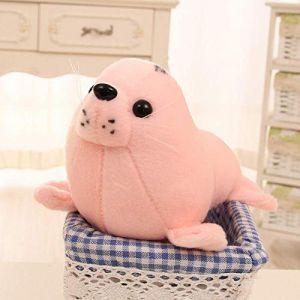 Peluche jouet animal en peluche marin monde sous-marin joint lion de mer oreiller poupée enfants cadeau d'anniversaire-Rose_35 cm (lizhaowei531045832, neuf)