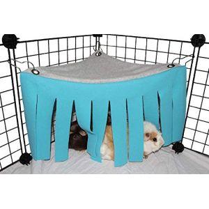 Asocea Tente hamac pour petit animal hamster Cage Accessoires Nid Lit pour cochon d'Inde, chinchilla, hérisson, rat, écureuil, furet, lapin nain (bleu) (AOSIKE, neuf)