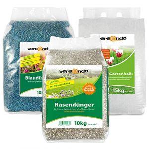 Versando Engrais pour gazon et pelouse ou engrais bleu ou chaux pour jardin - différentes tailles pour jardinage 10kg (versando - livraison rapide avec DPD, neuf)