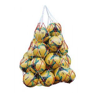 2Pcs Sac de Balles Filet Sacoche en Maille Filet Transport pour Ballon Robuste Sac Bandoulière Grande Capacité Filet Rangement Basket-ball Football avec Cordon Serrage pour 10-12 Balles (QICHENGUK, neuf)