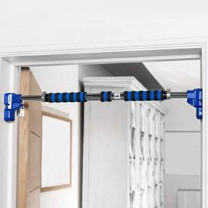 METIS Barre de Traction Réglable | Pull up Bar | Barre Porte | Parfaites pour Les gymnases à Domicile | Sport Musculation Gymnastique | sans Fixation (110-130 cm) (Net World France, neuf)
